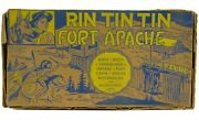 Vintage 1950and039s Marx Rin Tin Tin Fort Apache 7th Cavalry Play Set W/bags And Box