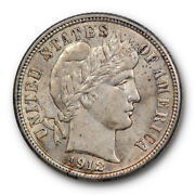 1912 S Barber Head Uncirculated Liberty Dime Ms Mint State 2014