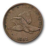 1857 Cent Flying Eagle Snow S 4 Very Fine To Extra Fine Ddo Double Die 7783