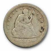 1855 O Seated Liberty Quarter Fine F Better Date New Orleans Mint 10146