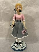 1950and039s Operator In Poodle Skirt By The Surrey Group 1993 Limited 1st Issue