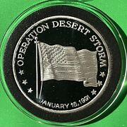 Operation Desert Storm Collectible Proof Coin 1 Troy Oz .999 Fine Silver Round
