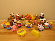 Fisher Price Little People Farm Lot Animals And People Farmers 21 Pieces