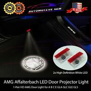 ⭐amg Affalterbach Logo Led Door Projector Light Hd Emblem Mercedes C E Glc Gle⭐
