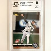 """1994 Alex Rodriguez """"a-rod"""" 1 Classic Games Rookie Graded Bccg 9 Mlb Card"""