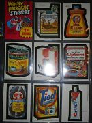 1979 1st Ser. Wacky Packages Complete Sticker Set And Wrapper Topps Razor Mint