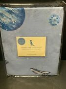 Pottery Barn Kids Galaxy Outer Space Crib Sheet Planet Rocket Baby Toddler New