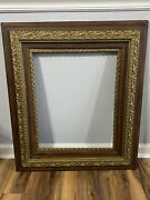 Vintage Ornate Wood Gesso Picture Frame 26 1/4 X 30 1/4 Fits 16 X 20 2