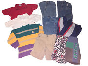 80s/90s Lot Of 10 Boys Vintage Kids Clothes Shirts Shorts Pants Outfits Size 5