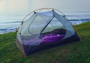 2 Person Camping Tent 210t 15d Silicone Fabric Double-layer Lightweight Camping