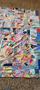 Antique Vintage Early 1900s Crazy Quilt Top 64 X 80 Handmade