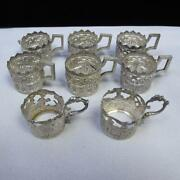 8 Pc Group Vintage Sterling Silver Shot Glass Holders Cups Assorted 107.5g A861