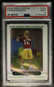 2005 Topps Chrome Aaron Rodgers Rookie Rc 190 Psa 9 Mint