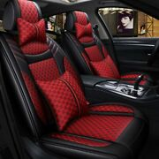 Luxury 11pcs Car Seat Cover Set Protector Front Rear Universal 5-seats Universal