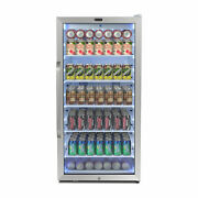 Whynter Freestanding 8.1 Cu. Ft. Stainless Steel Commercial Beverage Merchand...