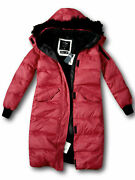 Nwt Hollister By Abercrombie Long Down Puffer Parka Jacket Coat Red M Medium