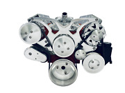 Small Block Chevy Serpentine Pulley Conversion Kit Alt Ps A/c Sbc 350 Plain