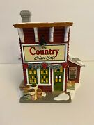 Department 56 The Country Coffee Café Country Living Holiday Collection - New
