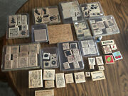 Set Of 84 Ink Stamps - Almost All Are Stampin Up. Many Seasons And Designs