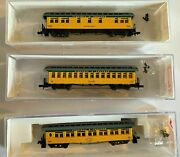 N Roundhouse 50and039 Overland Vandt Pass Combine Coach And Sleeper 3-car Set Rapido+knuc