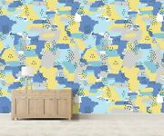 3d Yellow Blue Kep1794 Wallpaper Mural Self-adhesive Removable Sticker Bea