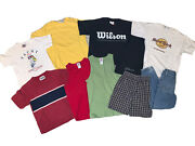 80s/90s Lot Of 10 Boys Vintage Kids Clothes Shirts Short Pants Outfits Size 8-10