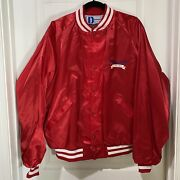 Vtg 80s Opryland Usa Jacket Pla-jac By Dunbrooke Made In Usa Xl Red Satin Nos