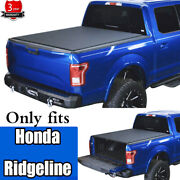 For 2017-2021 Honda Ridgeline Tonneau Cover Roll Up Soft Pickup Truck Bed Covers