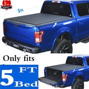 5' Roll-up Soft Tonneau Cover Fit 05-21 Frontier 09-12 Equator Truck Bed Covers