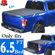 6.5' Roll-up Soft Tonneau Cover Fit 14-20 Toyota Tundra Pickup Truck Bed Covers