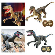 Rc Realistic Remote Control Walking Roaring Dinosaur Robot Toy For Boys 5-8
