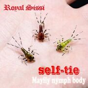 Mayfly Nymph Rubber Body With Thin Skin Stickers Fly Fishing 60pcs/set