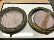 Vintage Pair Bezel Lens Cadillac 1930s Early Automobile Bausch And Lomb Lens
