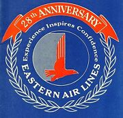 1956 Eastern Air Lines System Timetable Golden Falcon Dc-7b Fare Family Plan Vtg