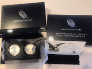 2012 San Francisco Mint 75th Anniversary 2 Coin Special Proof Silver Eagle Set