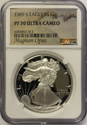 1989-s Silver Eagle Ngc Pf70 Ultra Cameo- Magnum Opus