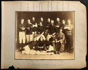 1881 Hamilton Tigers Rugby Team Cabinet Photo Early Canadian Football Very Rare