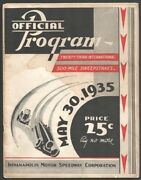 Indianapolis Motor Speedway Indy 500 Race Program 5/30/1935-race Info -entry ...