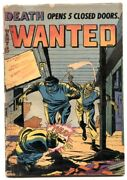Wanted Comics 51 1952- Heroin Story- Holiday Of Horror G/vg