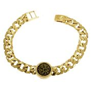 Bracelet 14k Yellow Gold And Antique Authentic Rare Bronze Widowand039s Mite Coins