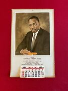 1969, Martin Luther King Jr., Cantrell Funeral Home Calendar Scarce /vintage