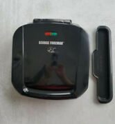 George Foreman Black Indoor Grill With Drip Tray