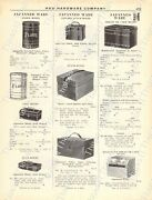 1920s Antique Hardware Ad Japanned Ware Bread Cabinets/cuspidors/lunch Boxes