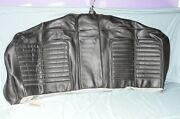 Vintage 1964 Ford Galaxie Convertible Rear Seat Back Cover Patterned Black Vinyl