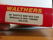 Ho Scale Bando Waffle Side Box Car Car 48000 Kit By Walthers Complete 11202