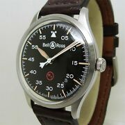 Bell And Ross Vintage Military Automatic Black Dial Menand039s Watch Brv192 Auth W/box