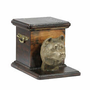 Pet Cremation Urn Akita Inu - Memorial Urn For Dog's Ashes,with Dog Statue.art 3