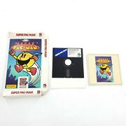 Vintage Super Pac-man Game For Commodore 64 Flatten Box-disc And Manual