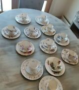 Royal Albert By Appointment Hammersley Bone China Tea Set Bread Butter...