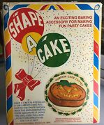 Vintage Shape A Cake Pumpkin Cake Giant Cookie Cutter Box And Instructions
